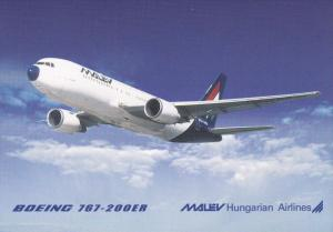 MALEV Hungarian Airlines Boeing 767-200ER Jet Airplane , 80-90s