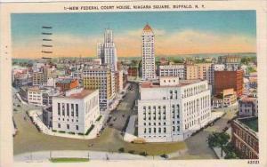 New York Buffalo New Federal Court House Niagara Square 1950