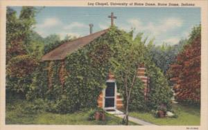 Indiana South Bend Log Chapel University Of Notre Dame Curteich