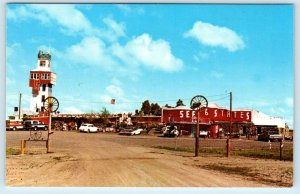 GENOA, CO Colorado  6 State View TOWER & MUSEUM  c1960s Cars Roadside Postcard