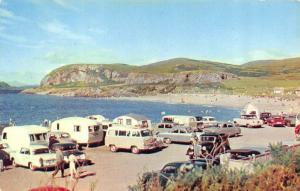 OBAN, UK Scotland  GANAVAN SANDS BEACH  40's & 50's CARS & TRAILERS  Postcard