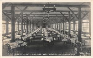 F30/ Mt Rainier National Park Washington RPPC Postcard c1920 Paradise Inn