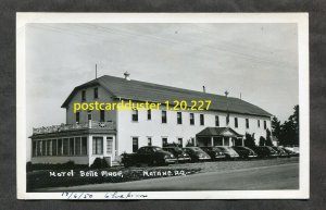 227 - MATANE Quebec 1940s Hotel Belle Plage. Cars. Real Photo Postcard