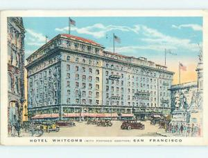 Proposed Addition Shown On Whitcomb Hotel San Francisco California CA j6531