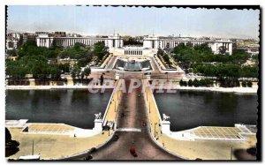 Old Postcard Paris's Trocadero gardens and the Palais de Chaillot