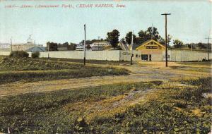 Cedar Rapids Iowa Alamo Amusement Park Antique Postcard K46651