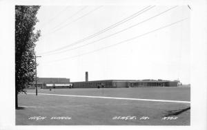 Osage Iowa~High School Building~View Across Large Field~Vintage RPPC Postcard