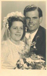 Austria foto Dornbirn groom bride wedding social history photo postcard