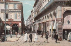 Algeria Alger Rue Bab-Azoun Street Scene