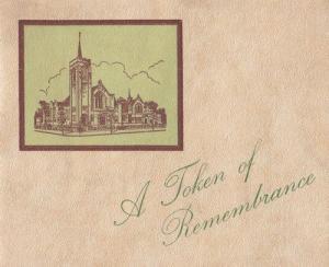 Northampton Methodist Church Womens Social Circle 1900s Remembrance Card