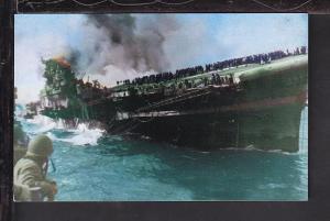 USS Franklin,WWII Postcard