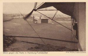 Zeppelin Postcard Germany Aerial View Gustav Eyb - hall in hamburg fuhlsbüttel