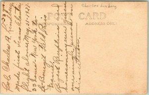 1920s CHARLES LINDBERGH Real Photo RPPC Postcard Portrait / Info on Back