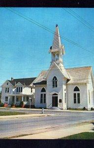 Asbury Methodist Church Harrington Delaware Vintage Chrome Post Card