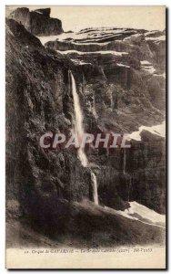 Old Postcard Gavarnie La Grande Cascade