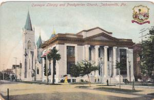 JACKSONVILLE, Florida, 00-10s; Carnegie Library and Presbyterian Church, Seal