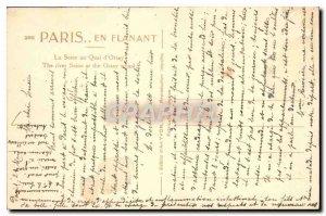 Old Postcard Paris Seine Quai d'Orsay