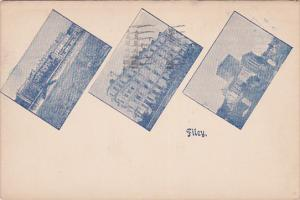 FILEY, England, PU-1957; Multiple Views of Filey