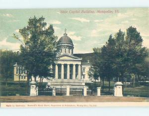 Unused Divided-Back STATE CAPITOL BUILDING Montpelier Vermont VT G1372