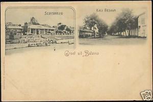 indonesia, JAVA BATAVIA, Sluisbrug, Kali Besaar (1899)