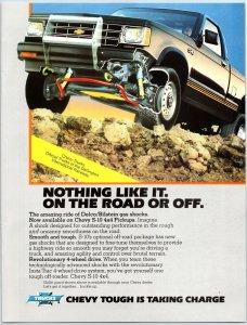 1984 Chevy S-10 4X4 Pickups Print Ad N1