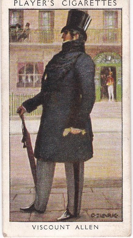 Cigarette Card Player's Dandies No 33 Viscount Allen