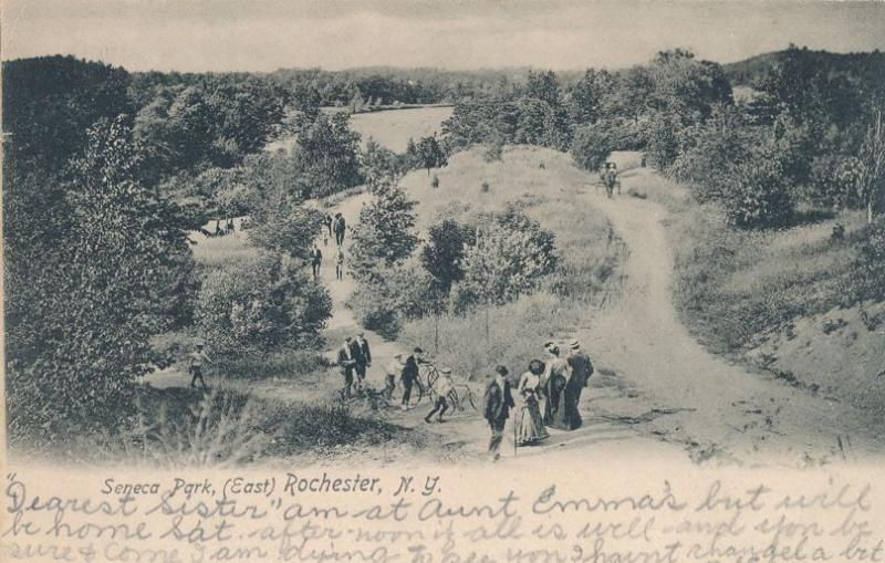 Seneca Park East Rochester New York Genesee River in background - pm 1908 - UDB