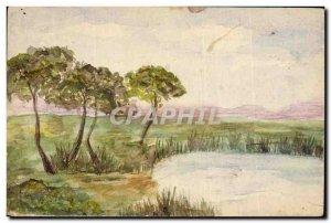 Old Postcard Fancy (drawing hand) Landscape