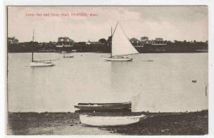 Yachts Lewis Bay Hyannis Cape Cod Massachusetts 1910c postcard