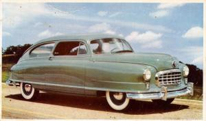 Automobile~NASH Airflyte~Green 1949 2 Door Sedan~Advertising Postcard