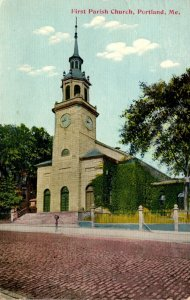 Maine Portland First Parish Church 1911
