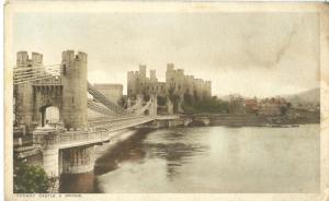 Conway Castle & Bridge, early 1900s unused Postcard