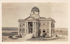 F36/ Casper Wyoming Postcard RPPC c1910 Court House Building