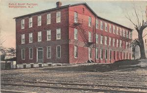 C18/ Bordentown New Jersey NJ Postcard c1910 Eagle Shirt Factory Clothing