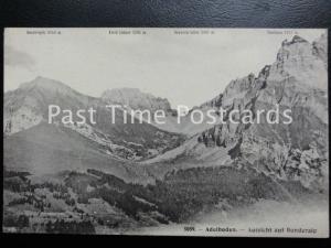 c1909 - Adelboden, Aussicht auf Bonderaip, showing four peaks - Switzerland