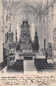 LUZERN, Switzerland; Inneres der Hofkirche, PU-1907