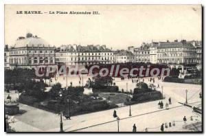 Old Postcard Le Havre Place Alexandre III