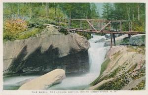 Bridge at The Basin - Franconia Notch - White Mountains, New Hampshire - WB
