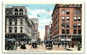 Fourth Street, north from Jefferson, Louisville, KY Postcard *7C4