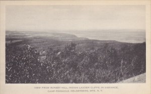 View From Sunset Hill Indian Ladder Cliffs In Distance Camp Pinnacle Helderbe...