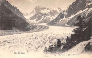 France Mer de Glace Mountains Glacier