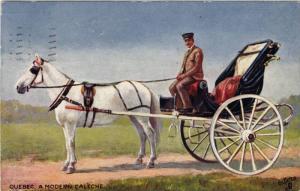 A Modern Caleche, Horse Carriage, Quebec, Canada, PU-1907 Oilette #2558