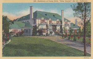 California Bel Air Residence Of Fanny Brice Baby Snooks Curteich