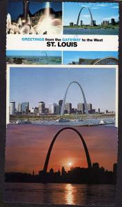MO Lot 6 St Louis MISSOURI Postcards Stadium Arch