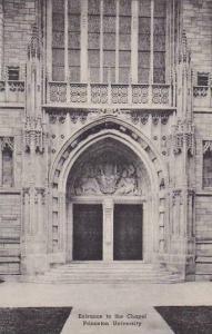 New Jersey Princeton Entrance To The Chapel Princeton University Albertype