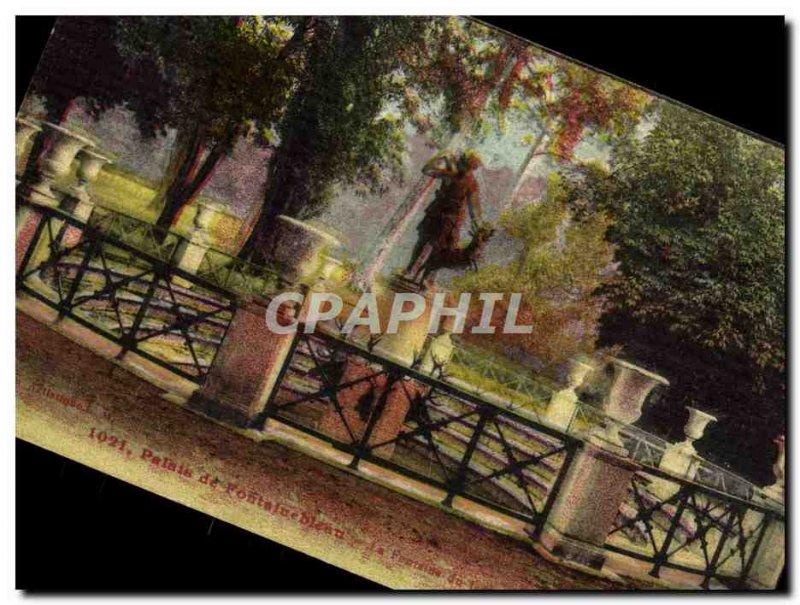 Old Postcard Palais De La Fontaine Fontainebleau Diane garden