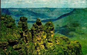 CE0393 australia new south wales katoomba three sisters blue mountains