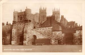 Bootham Bar and York Minster, real photograph