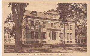 New Hampshire Hanover Parkhurst Hall Dartmouth College  Albertype