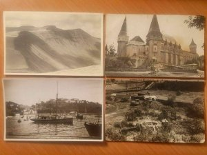 Worldwide bulk lot 45 vintage photo postcards places to identify